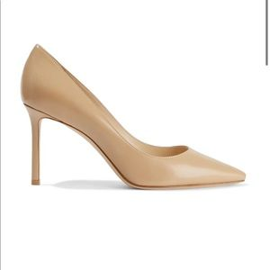 Jimmy Choo, Romy Nude Heels, Size 37.5